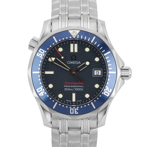 Omega Seamaster Professional 300M Blue Wave Quartz 36mm Midsize Watch 2223.80.00