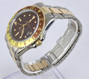 Vintage 1973 Rolex GMT-Master 1675 Brown Root Beer Two-Tone 18K Gold Stainless