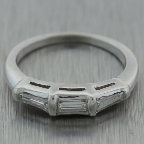 1960's Antique Vintage Estate Platinum 0.35ctw Diamond Band Ring