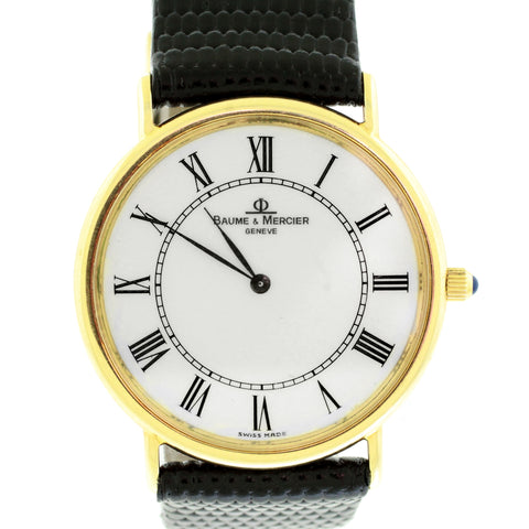 Baume & Mercier Geneve 14k Yellow Gold White Dial 95600 Watch