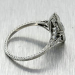 1920s Antique Art Deco Estate Platinum 1.41ctw Diamond Engagement Ring EGL T1