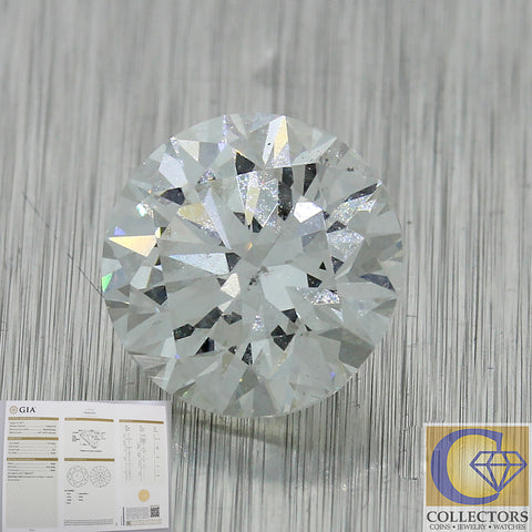 1.21ct GIA Certified Round Brilliant Cut I SI1 Natural Modern Loose Diamond