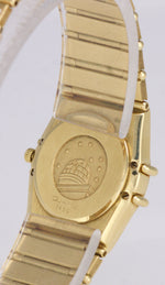 Omega Constellation 18K Yellow Gold Diamond 22.5mm Quartz MoP Watch 1167.75.00