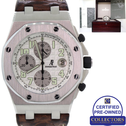 Audemars Piguet Royal Oak Offshore 26020ST.OO.D001IN.02 44mm Watch w Box C8