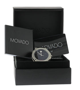 NEW Movado SE Extreme Mens Automatic 44mm Stainless Steel Watch 0606700 BoxPaper