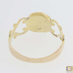 1880s Antique Victorian 14k Yellow Gold Sterling Diamond Open Hearts Ring A8