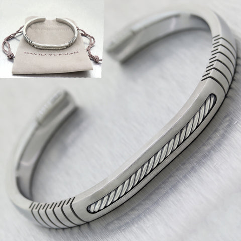 David Yurman Sterling Silver Cable Classic Collection Cuff Bracelet
