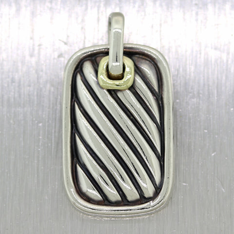 David Yurman Sterling Silver Classic Dog Tag Pendant