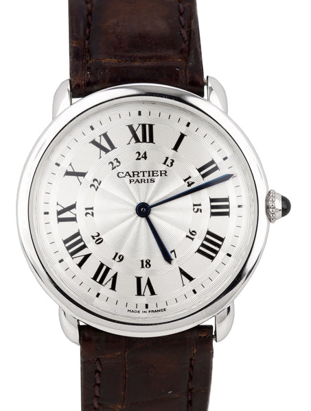 Cartier Ronde Solo Louis Privee Manual Wind Platinum 33mm 2452C W1528051 Watch