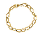 "Tiffany & Co. Elsa Peretti 18K 750 Yellow Gold Aegean Toggle 7.75"" Bracelet"