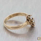 1880s Antique Victorian 14K Yellow Gold Diamond 0.30ct Diamond Ring A8