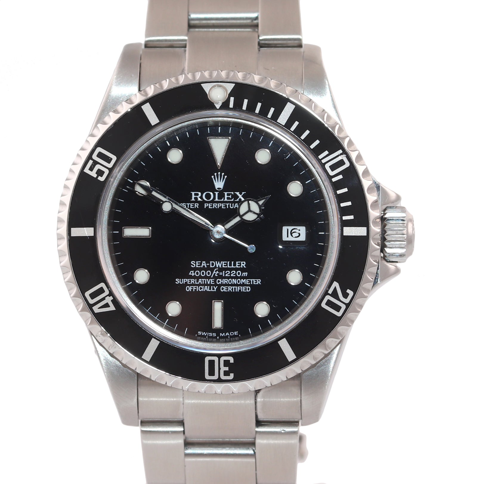 2005 PAPERS Rolex Sea-Dweller Steel Date 16600 40mm Date Black Diver Watch Box