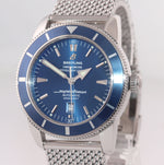 PAPERS Breitling SuperOcean Heritage 46 A17320 Blue Dial Date 46mm Mesh Watch