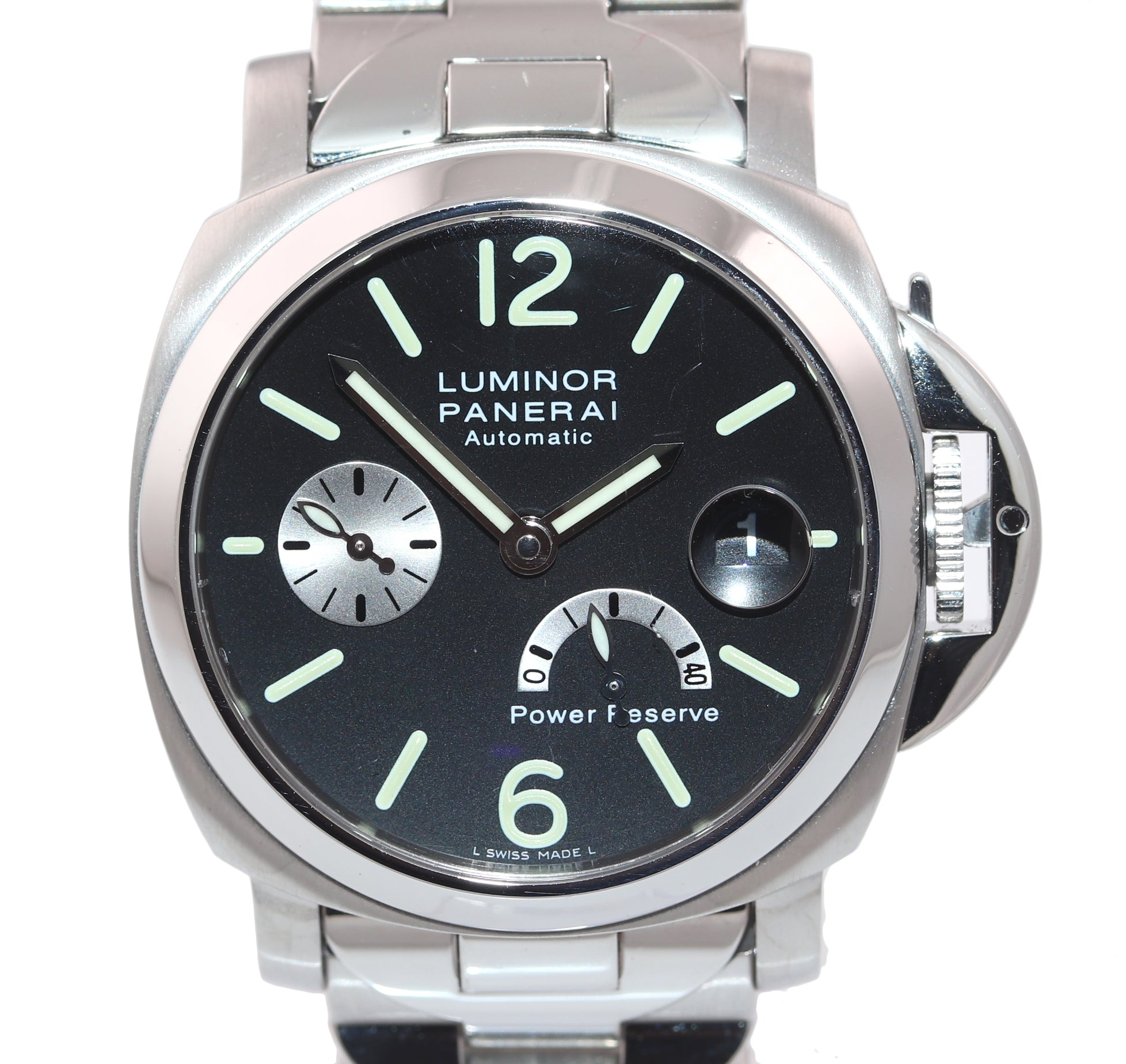 PAPERS MINT Panerai PAM 126 Luminor Stainless Automatic 40MM Watch Steel Box