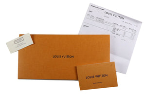 Limited Edition Louis Vuitton Clemence Damier Summer Trunks White Canvas Wallet