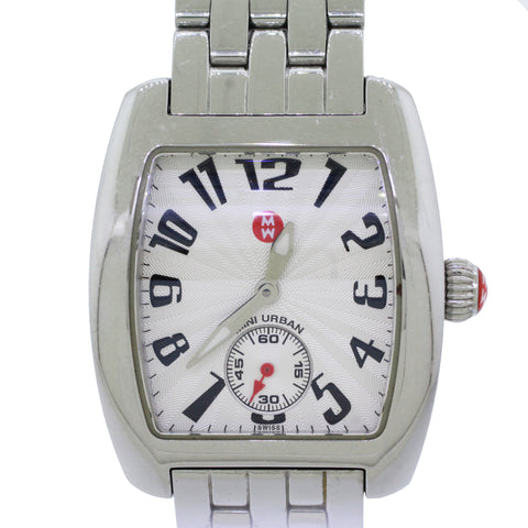 Michele Mini Urban 34mm  Rectangle Stainless Steel Watch MW02A00A0001
