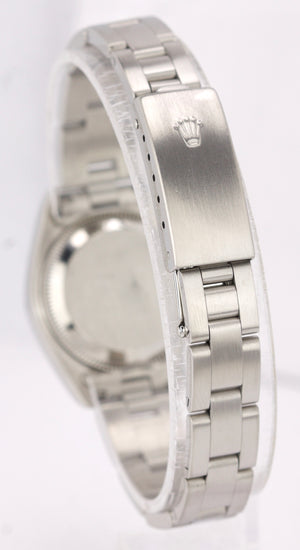 2006 Rolex Date 26mm Stainless Steel Silver Tapestry Oyster Watch 79160 DateJust