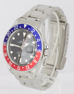 Vintage 1985 Rolex GMT-Master Pepsi Blue Red Stainless Gloss 16750 40mm Date
