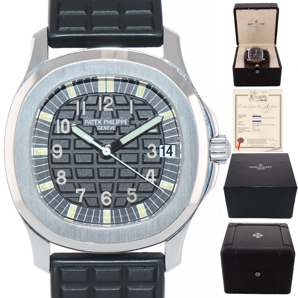 Patek Philippe Stainless Steel 5066 Aquanaut Black Rubber 5066/1 36mm Date Watch