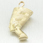 Vintage Estate 14k 7.0g Yellow Gold Pharaoh Pendant Charm
