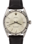Vintage 1969 Rolex Oyster Perpetual Silver 34mm ENGINE TURN 1007 Stainless Watch