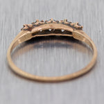 1890's Antique Victorian 14k Yellow Gold 0.25ctw Diamond Wedding Band Ring