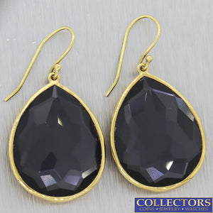 Ippolita Solid 18k Yellow Gold Rock Candy Teardrop Hook Earrings $995 C8
