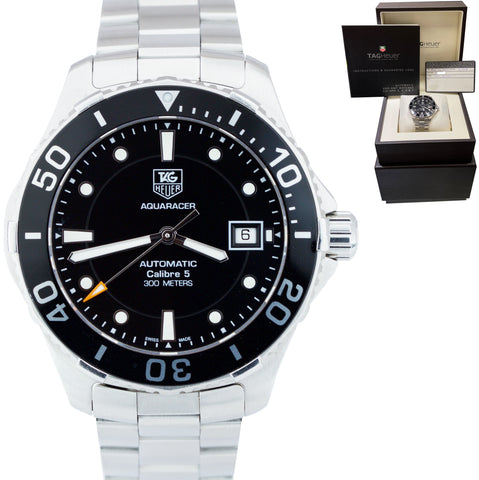 TAG Heuer Aquaracer Calibre 5 WAN2110.BA0822 Automatic 41mm Watch BOX PAPERS