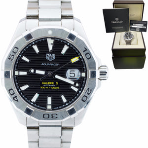 TAG Heuer Aquaracer Automatic 43mm Watch WAY2010.BA0927 BOX PAPERS