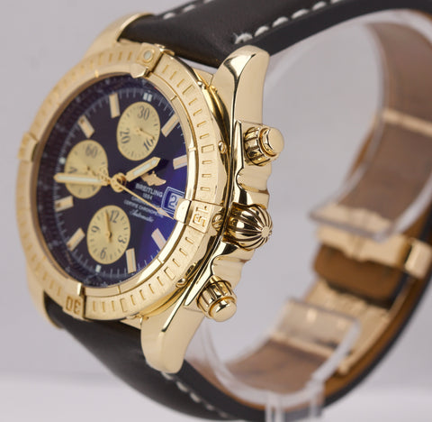 Breitling Chronomat Evolution 18K Yellow Gold 44mm Chronograph Date Watch K13356