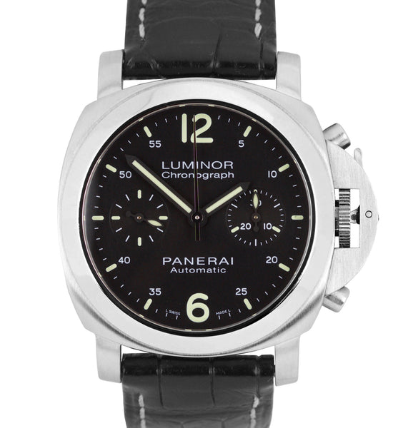 MINT Panerai Luminor Chronograph PAM 310 Stainless Black Automatic 40mm PAM00310