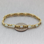 Vintage Estate 14k Yellow Gold 4ctw Opal Bracelet