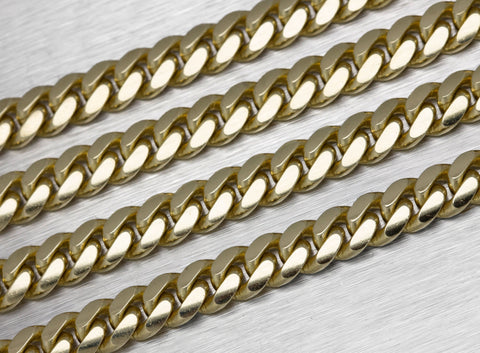 "Men's Modern 14K Yellow Gold 8mm Cuban Link Chain 28.00"" Necklace 148.4gr"