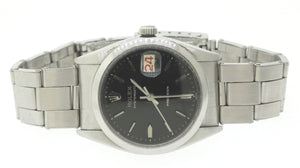 1956 Vintage Rolex Oysterdate Precision Steel Swiss Black Manual 34mm Watch 6494
