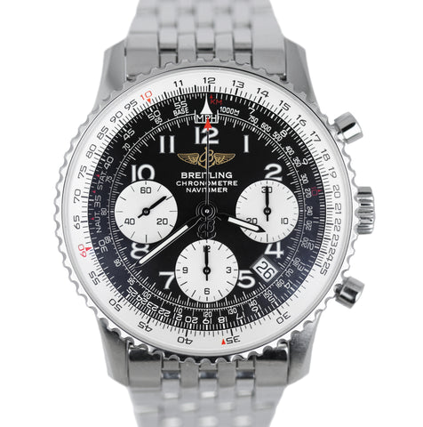 MINT Men's Breitling Navitimer Chronograph 41.8mm Stainless Steel Black A23322