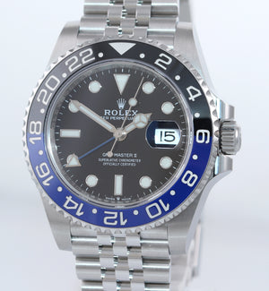 NEW JULY 2020 PAPERS Rolex GMT Master Batman Blue Jubilee Ceramic 126710 Watch