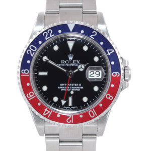 MINT 2003 Rolex GMT-Master II Pepsi Steel Blue Red 16710 Watch Box
