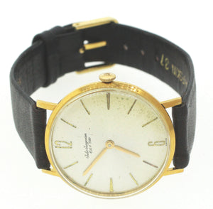 Jules Jurgensen Mechanical 18k Yellow Gold 38mm MOP Watchquan