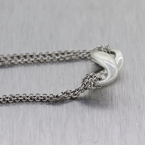 "Tiffany & Co. Sterling Silver Infinity 16"" Necklace"