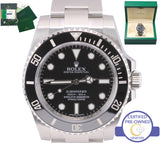 UNWORN 2016 Rolex Submariner No-Date 114060 Stainless Black Ceramic 40mm Watch