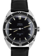 Vintage 1967 Omega Seamaster 120 Automatic Black 37mm 166.027 166.00027 Watch