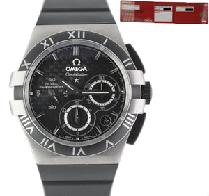Omega Constellation Double Eagle Co‑Axial Chronograph 41mm Titanium Black Watch