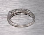Ladies Vintage Estate 14K White Gold 0.71ctw Diamond Dainty Stackable Ring