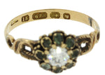 1880s Antique Victorian Estate 15k Yellow Gold 0.42ct Diamond Beryl EGL Ring Z9