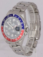2004 Rolex GMT-Master II PEPSI Stainless Steel Black 40mm NO-HOLES Watch 16710