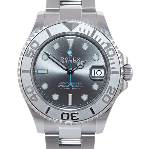 Rolex Yacht-Master 268622 Steel Rhodium 37MM Blue Watch Box