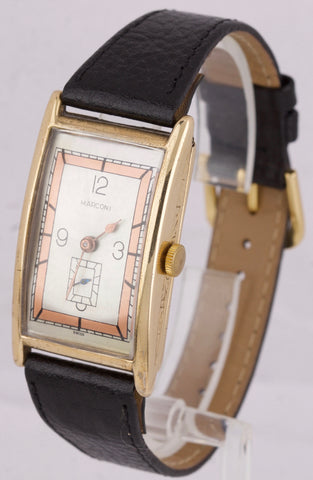 Rolex Marconi Art Deco EXTRA LARGE 45 x 25mm Gold-Filled Rectangular Swiss Watch