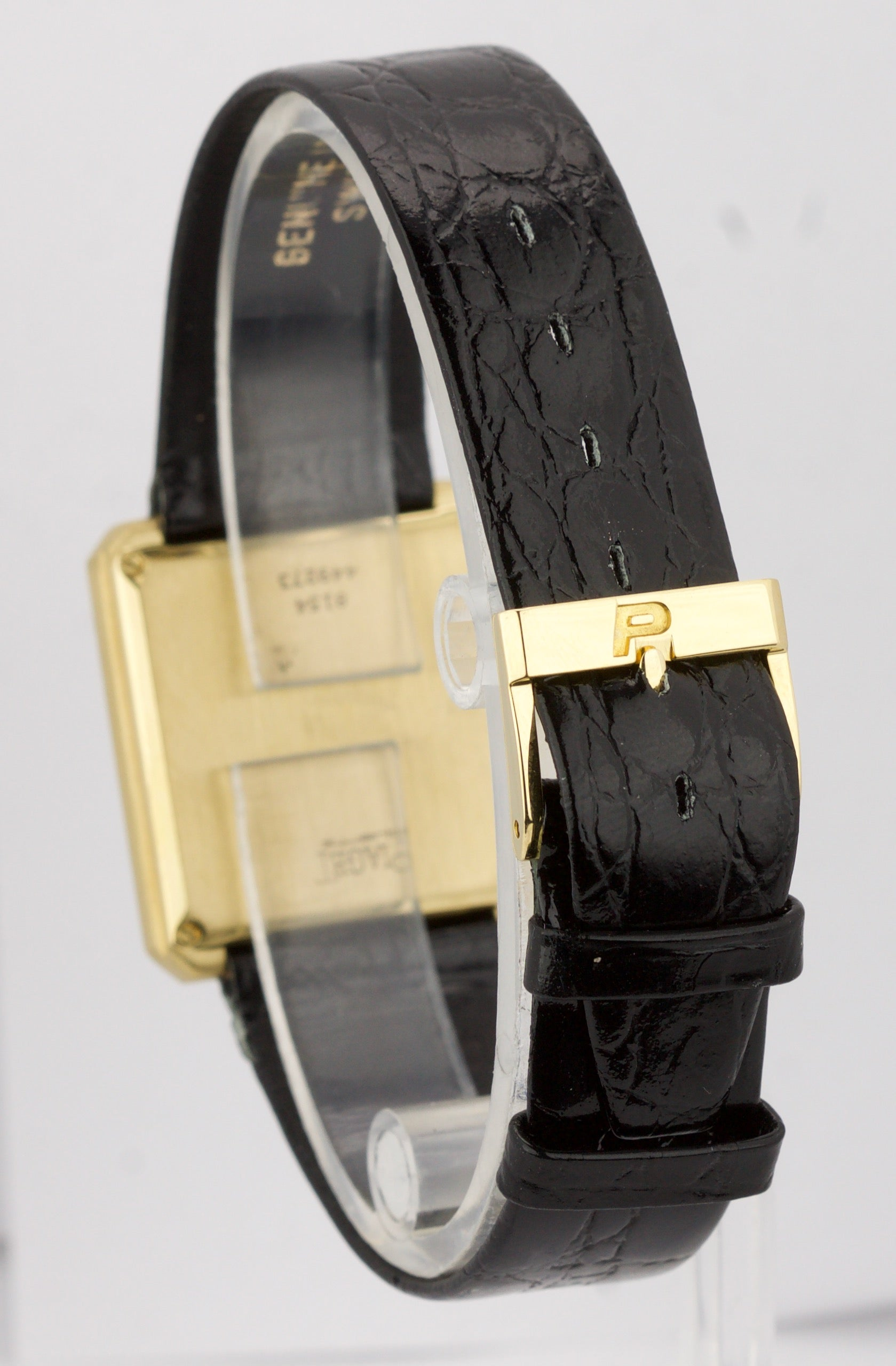 Piaget Protocole 25mm Quartz 8154 Champagne 18K Yellow Gold Leather Watch