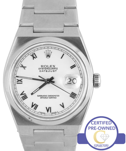 Rolex DateJust OysterQuartz 17000 Stainless Steel 36mm Oyster Quartz Date Watch