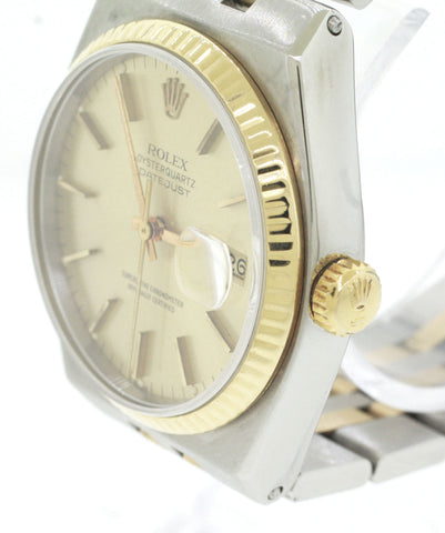 Rolex Oysterquartz DateJust 17013 Two-Tone Gold Stainless Integral Watch
